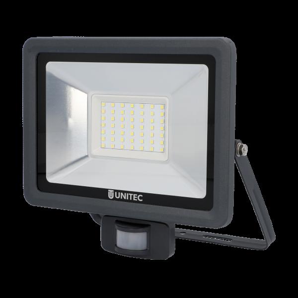 UNITEC LED Strahler mit Bewegungsmelder 4000 Lumen 50 Watt